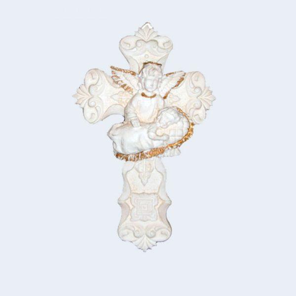 Cruz angel con cojin